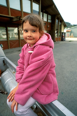 image 8-324-7 Alaska, Wrangell, Young girl