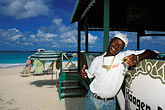 happy stock photography | Anguilla, Shoal Bay, Uncle Ernie