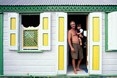 front door and window stock photography | Anguilla, Sandy Ground, Painted cottage, image id 0-100-88