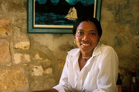 image 4-600-49 Antigua, Portrait of woman