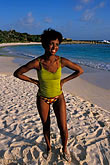 one woman only stock photography | Antigua, Half Moon Beach, image id 4-601-47