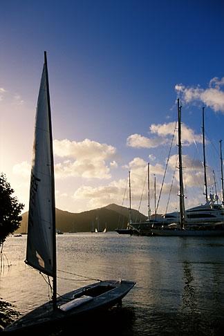 image 4-601-94 Antigua, English Harbor, Boats in Falmouth Harbor