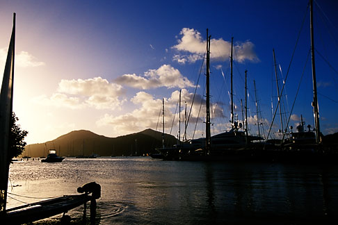 image 4-602-23 Antigua, English Harbor, Boats in Falmouth Harbor