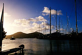 sunset stock photography | Antigua, English Harbor, Boats in Falmouth Harbor, image id 4-602-23