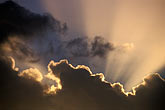 evening stock photography | Antigua, Clouds and god-beams, image id 4-602-25