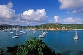 high angle view stock photography | Antigua, English Harbor, Boats in English Harbor, image id 4-603-9
