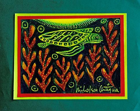 image 4-604-67 Art, Nancy Nicholson, Sea Turtle painting