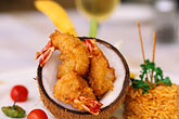 fish restaurant stock photography | Food, Coconut Shrimp, image id 4-605-14