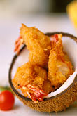 plate stock photography | Food, Coconut Shrimp, image id 4-605-17