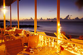 caribbean beach sunset stock photography | Antigua, Dickenson Bay, Coconut Grove Restaurant, image id 4-605-23