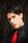 tie stock photography | Argentina, Buenos Aires, Tango dancer, closeup portrait, image id 8-801-5756
