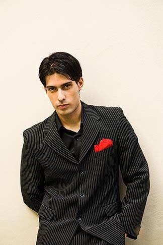 image 8-801-5867 Argentina, Buenos Aires, Tango dancer, solo portrait, young man