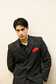 color stock photography | Argentina, Buenos Aires, Tango dancer, solo portrait, young man, image id 8-801-5867