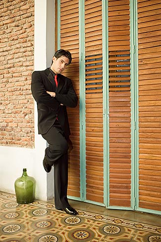 image S8-451-10471 Argentina, Buenos Aires, Tango dancer, solo portrait, young man standing