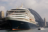 sydney harbour bridge stock photography | Australia, Sydney, Cruise Ship, image id 5-600-1435