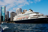 sunlight stock photography | Australia, Sydney, Circular Quay, Cruise ship, image id 5-600-1445