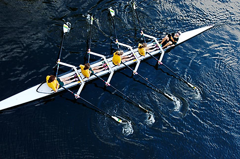 image 5-600-2133 Australia, Melbourne, Rowing on the Yarra River