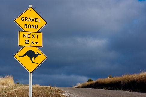 Australia Kangaroo Warning Sign David Sanger Photography