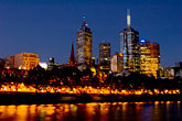 illuminated stock photography | Australia, Melbourne, Downtown skyline, image id 5-600-8764