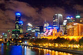 twilight stock photography | Australia, Melbourne, Downtown skyline, image id 5-600-8783