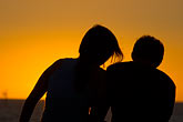 look down stock photography | Australia, South Australia, Couple watching sunset, image id 5-600-9165
