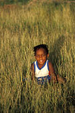 solo portrait stock photography | Barbados,, Young child in field, image id 0-202-53