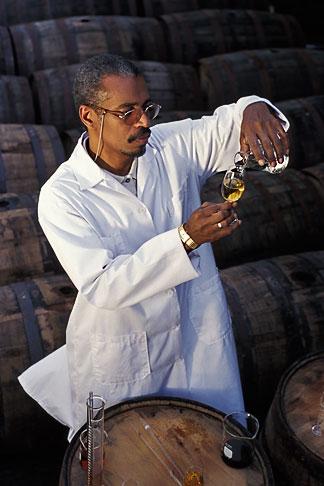 image 0-202-69 Barbados, Bridgetown, Jerry Edwards, master blender, Mount Gay Rum