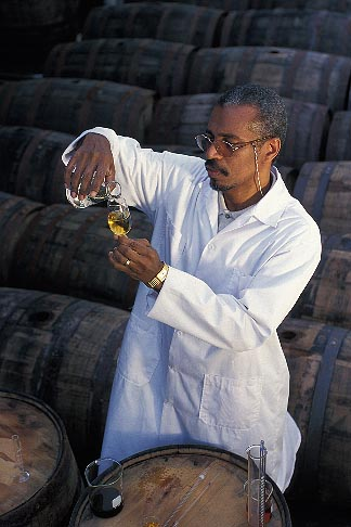 image 0-202-70 Barbados, Bridgetown, Jerry Edwards, master blender, Mount Gay Rum