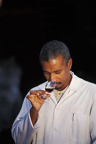 image 0-202-84 Barbados, Bridgetown, Jerry Edwards, master blender, Mount Gay Rum