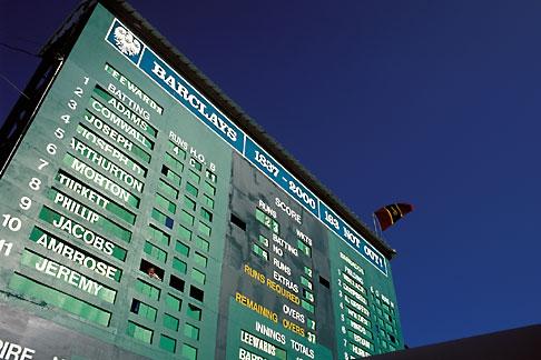 image 0-205-94 Barbados, Bridgetown, Cricket scoreboard, Kensington Oval