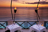 twilight stock photography | Barbados, St. James, The Cliff restaurant, image id 3-480-63