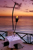 twilight stock photography | Barbados, St. James, The Cliff restaurant, image id 3-480-81