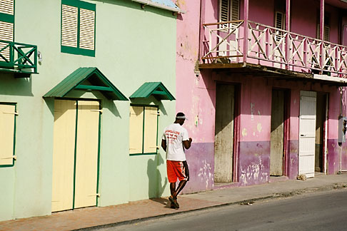 image 3-481-44 Barbados, Speightstown, Street scene