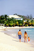 stroll stock photography | Barbados, Christ Church, Family on beach, Hastings, image id 3-482-17