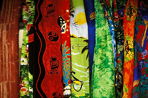 image 3-482-23 Barbados, Colorful fabrics