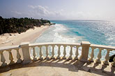 travel caribbean beach landscape stock photography | Barbados, St. Philip, Balcony and Crane Beach, image id 3-482-30