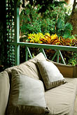 verandah and pillows stock photography | Barbados, St. John, Villa Nova plantation house, image id 3-490-15