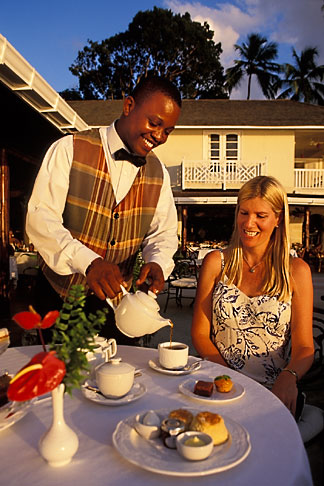 image 3-490-42 Barbados, Holetown, Coral Reef Club, afternoon tea