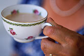 poised stock photography | Food, Woman drinking tea, image id 3-494-79