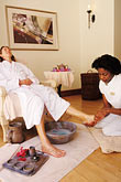 two women only stock photography | Barbados, St. James, Sandy Lane spa, massage, image id 3-495-75
