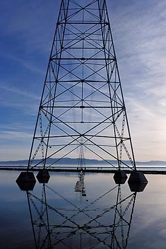 image 0-283-4 California, San Francisco Bay, Transmission towers, Palo Alto baylands