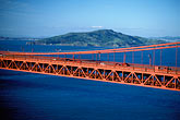 suspension bridge stock photography | California, San Francisco Bay, Aerial view of Golden Gate Bridge, image id 1-301-56