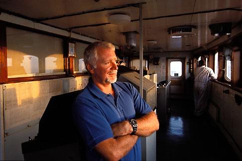 image 1-491-7 California, San Francisco Bay, Tanker Gaz Master, Bar Pilot on the bridge