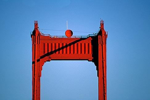 image 1-63-9 California, San Francisco, Golden Gate Bridge tower