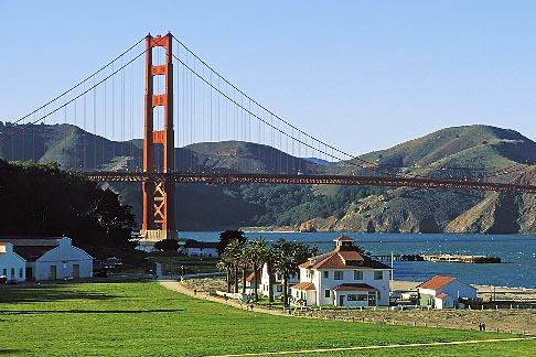 image 1-70-35 California, San Francisco, Golden Gate Bridge and restored Crissy Field