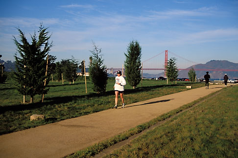 image 1-75-67 California, San Francisco, GGNRA, Entrance Grove, Crissy Field