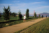 running stock photography | California, San Francisco, GGNRA, Entrance Grove, Crissy Field, image id 1-75-67