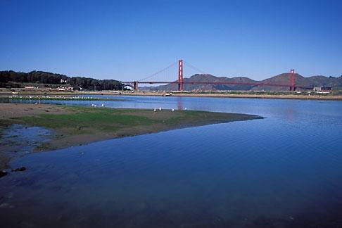 image 1-75-76 California, San Francisco, GGNRA, Tidal marsh, Crissy Field