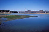 suspension bridge stock photography | California, San Francisco, GGNRA, Tidal marsh, Crissy Field, image id 1-75-76