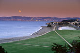 conservation stock photography | California, San Francisco, GGNRA, Moonrise over Crissy Field, image id 1-75-78
